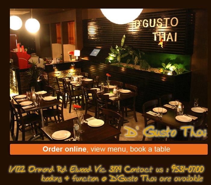 Restaurant Gusto Menu